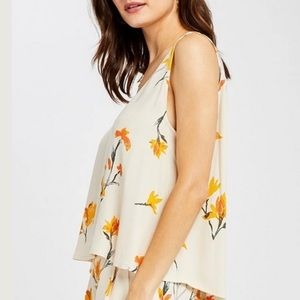 Gentle Fawn Floral Sleeveless Blouse